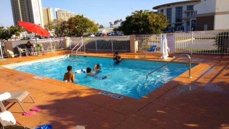 MY children enjoying the pool